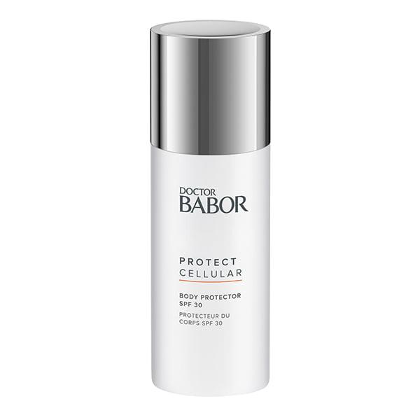 Doctor Babor Protect Cellular Body Protector SPF 30 er en raskt absorbert, intensiv fuktighetsgivende kroppslotion med SPF 30 for å beskytte mot for tidlig aldring av huden forårsaket av UV-stråling og miljøfaktorer.