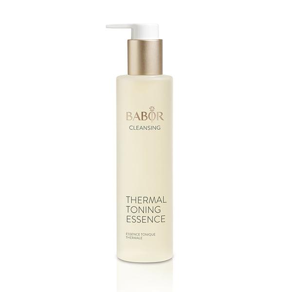 Babor Cleansing Thermal Toning Essence er rik på mineraler og sporstoffer, tilfører fuktighet og forfrisker og beroliger huden uten alkohol.