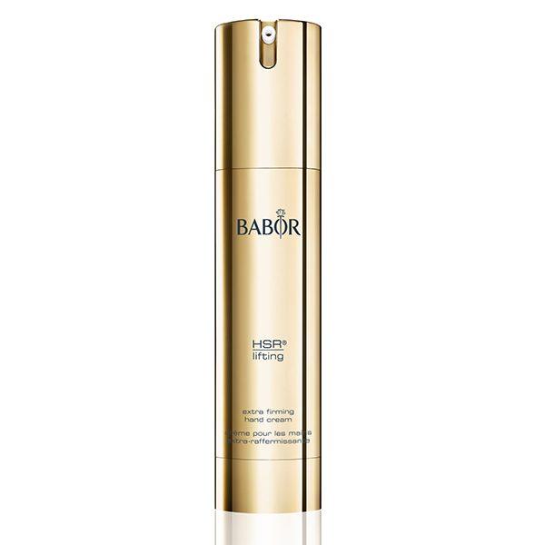 Babor HSR Extra Firming Hand Cream forbedrer huden på hendene, minsker aldring, reduserer rynker, strammer opp huden og lysner eksisterende pigmentflekker.