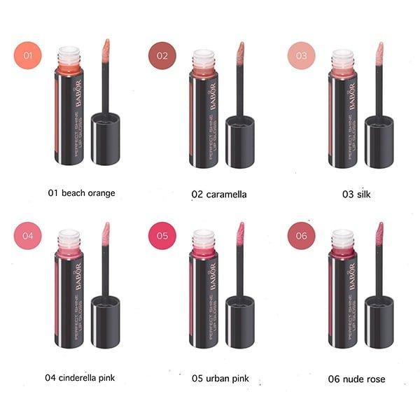 Babor AGE ID Perfect Shine Lip Gloss i 6 farger er en kondisjonerende høyglans lipgloss som gir en ungdommelig blank fargeaksent til leppene. Perfect Shine Lip Gloss tilfører en strålende glans på leppene uten å gjøre dem klistret eller føre til at leppefargen blør. Den nye applikatoren er ideell utformet for brukervennlighet. Emballasjen er liten, men likevel elegant – og passer perfekt i hvilken som helst veske.