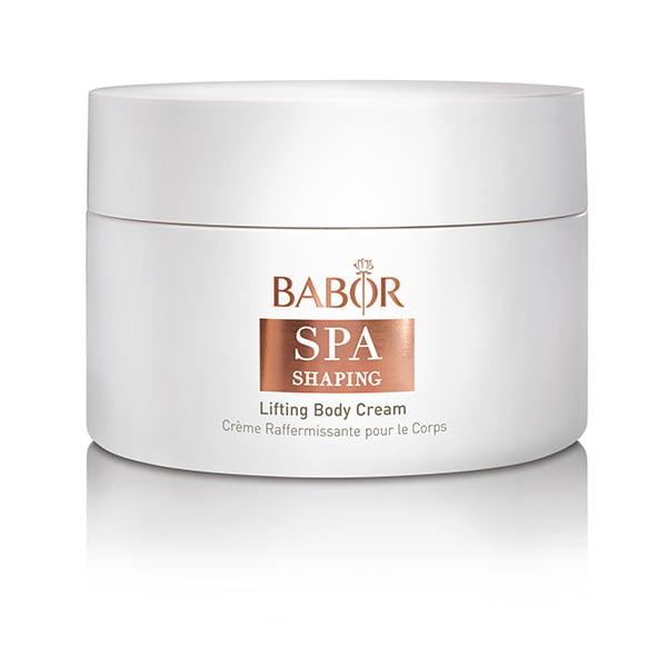 Babor SPA Shaping Lifting Body Cream er en jevn anti-aldringskrem som inneholder et ekstrakt av Sorbus torminalis fruktstamceller – eksklusivt for Babor og etterlater huden velstelt med et jevnere og smidigere utseende.