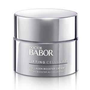 Doctor Babor Lifting Cellular Collagen Booster Cream er et multiaktivt hyaluronsyrekompleks og marint kollagen som gir huden intens fuktighet og hjelper huden å forbli fleksibel som resulterer i en synlig glattere og yngre hudfarge.