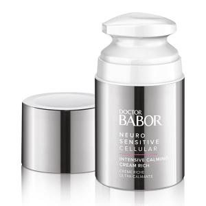 Doctor Babor Neuro Sensitive Cellular Intensive Calming Cream Rich er en spesiell krem med en rik konsistens for ekstrem tørr, flassende hud som også kan brukes som en medfølgende hudpleiebehandling for nevrodermitt (atopisk eksem) i løpet av symptomfrie intervaller.