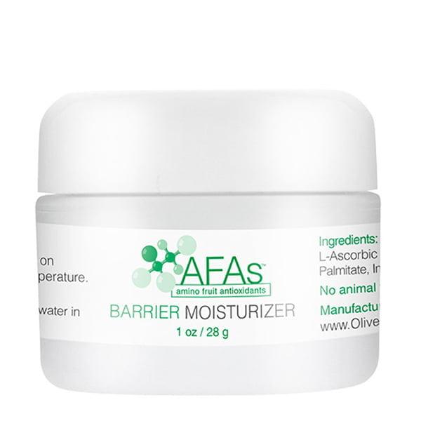 AFAs Daily Hydration Barrier Moisturizer er basert på en emulsjon som har blitt brukt i flere tiår som en hudlege-godkjent aktuell kjøretøy for medisinsk behandling og rehydrerer huden samtidig som den hjelper til med å opprettholde fuktighetsbalansen for en jevn, silkeaktig struktur. AFA Moisturizer er formulert til daglig bruk. Denne fuktighetskremen er forsterket med vår patenterte blanding av aminobaserte filaggrin-antioksidanter for å forynge, lysne og berolige hudfargen. Bra for normal til tørr og sensitiv hud.
