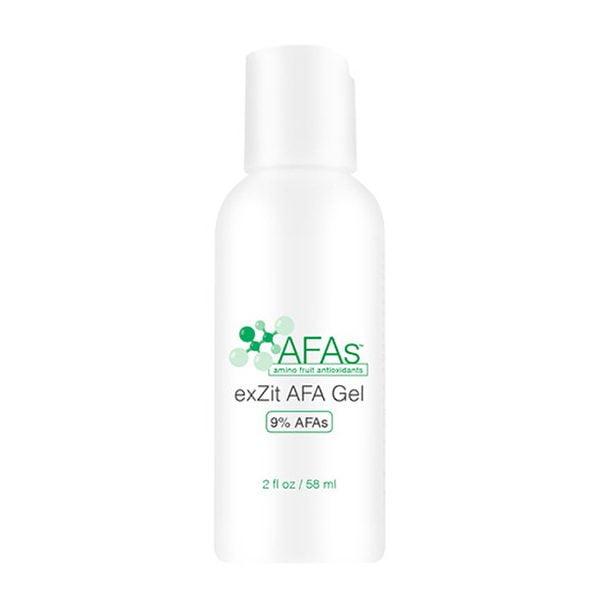 AFAs Graduated Treatments exZit AFA Gel forbedrer flekker effektivt uten å tørke over og eksfolierer forsiktig og effektivt for å avsløre klar, lys hud. Flott for fet og kviserutsatt hud og yngre pasienter.