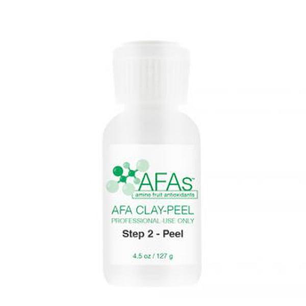 AFA Professional Clay Peel kombinerer de enestående fordelene med sjeldne jordarter og den patenterte AFAs-blandingen av aminobaserte filaggrin-antioksidanter i en unik, 2-trinns applikasjonsprosess som gir uante resultater for leger, hudterapeuter og deres pasienter.