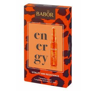 Babor Ampoule Concentrates Energy Vitality and Resistance ampullekur støtter huden med planktonalgeekstrakt som virker vitaliserende og jevner hudtonen.