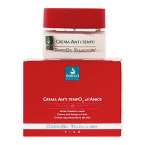 Marzia Clinic Anise Timeless Cream DermoBio Molecolare® fjerner aldringstegnene, reduserer synligheten av rynker og glatter vevene. Det oksygenstimulerende molekylære komplekset øker hydratiseringen og hudens permeabilitet, og lar nøkkelingrediensene trenge inn i dybden og stimulere cellemetabolismen, uten å øke frigjøringen av frie radikaler.