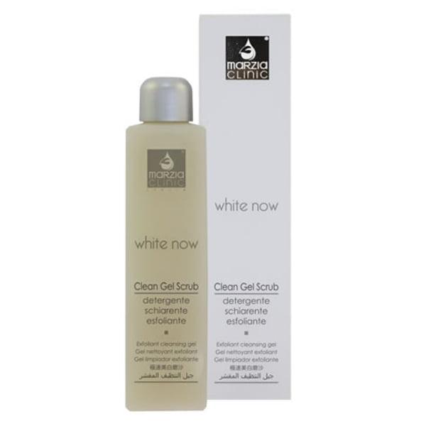Marzia Clinic White Now Clean Gel Scrub renser huden dypt, men forsiktig, har en myk eksfolierende virkning og hjelper med å fjerne ugjevnheter i hudfargen. Ideell for å gjenopplive den naturlige hudstrålingen.