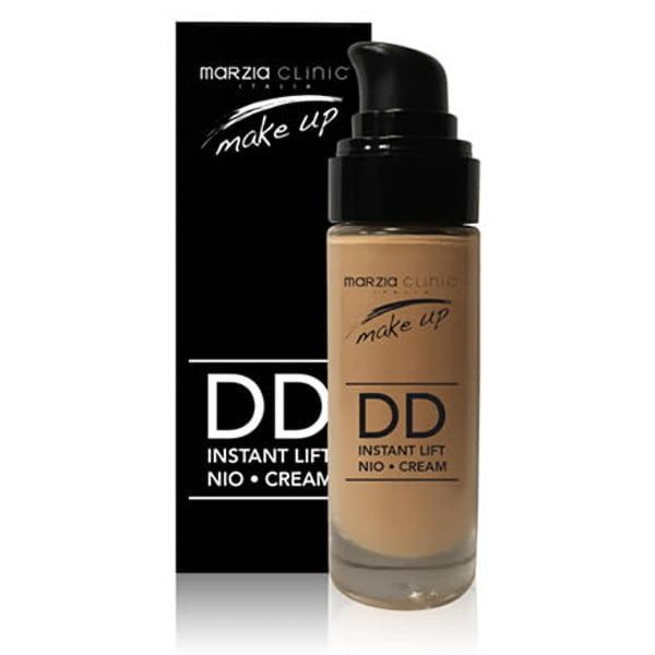 Marzia Clinic DD Instant Lift Nio•Cream i 3 farger er formulert med bioaffinfargepigmenter som kombinerer sminke og avantgarde hudpleie takket være høyteknologiske ingredienser. Etter behandling ser huden umiddelbart feilfri og jevn ut.