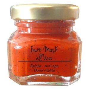 Marzia Clinic Fruit Mask with Grapes er en anti-age maske med Jojoba mikrosfærer. Nå kan du glede deg over en SPA-behandling hjemme. Tre handlinger i ett produkt: jojoba-mikroperler løfter urenheter og døde celler fra hudoverflaten; synergien mellom frisk fruktjuice og fargeterapi forbedrer produktets effektivitet; Fyto-endorfiner gir deg en hyggelig velværefølelse.