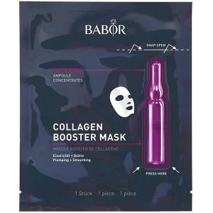 Babor Ampoule Concentrates Collagen Booster Mask er en svært effektiv kombinasjon av BABOR Ampoule Concentrates og eksklusiv tøymaske som sikrer de aller beste resultatene som gjennom aktivering av friskhetskapselet kombinerer de aktive ingrediensene i ampull og klutmaske og gir en sann plumping effekt på huden.