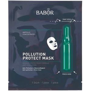 Babor Ampoule Concentrates Pollution Protect Mask kombinerer den svært effektive Babor Ampoule Concentrates og eksklusiv tøymaske som sikrer de aller beste resultatene ved aktivering av de aktive ingrediensene i ampullen og klutmasken. De fungerer som et beskyttende skjold mot hverdagens negative miljøpåvirkninger.