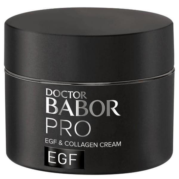 Doctor Babor PRO EGF & Collagen Cream kombinerer EGF og FGF biomimetiske peptider med marin kollagen. Den støtter hudens egne naturlige foryngelsesmekanismer og hjelper til å fylle hudoverflaten med marin kollagen for en fastere og jevnere hudstruktur.