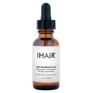iHair Hair Densifying Serum er et unikt hårserum som inneholder naturlige proteinpeptider som kan bidra til å styrke håret slik at det virker tykkere, fyldigere og sunnere på bare 8 uker. Tykkere, sterkere, mer sunt utseende hår er ikke bare et spørsmål om genetikk, det er også et spørsmål om ernæring. Med dette fantastiske naturlige proteinpeptidhårforsterkende serumet, kan du endelig hjelpe deg med å gi deg selv det tette og skinnende håret du alltid ønsket.
