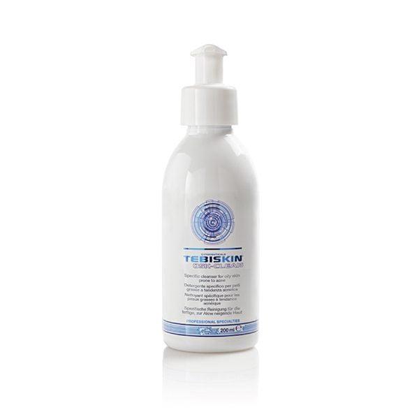 Tebiskin Osk-Clean er et spesifikt rengjøringsmiddel for fet, akneutsatt hud. Rensevirkningen fjerner talgavleiringer og gir en mattende effekt.