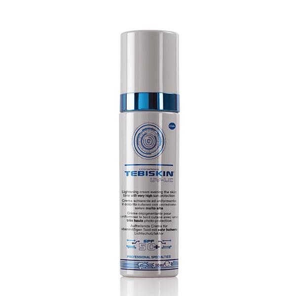 Tebiskin UV-LC Lightening Cream er en pigment utjevningskrem med nedregulerende melaninbiosyntese og hemmer tyrosinaktivitet. Forhindrer og motvirker postinflammatorisk hyperpigmentering. Veldig egnet som komplementær hjemmesykepleie mellom alle former for depigmenteringsbehandlinger.