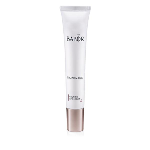 Babor Skinovage Calming Eye Cream er spesielt utviklet for behovene til veldig følsomme øyeområder som har en tendens til rødhet. De nøyaktig balanserte ingrediensene som panthenol, allantoin og polysakkarider, beroliger huden rundt øyet og gir fuktighet og gjør øyeområdet friskere og mer avslappet.