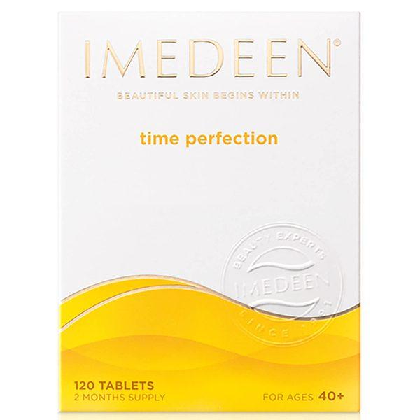 Imedeen® Time Perfection hudpleietabletter er designet for å forbedre hudkvaliteten og fuktighetsbalansen og redusere de synlige aldringstegnene. 40-årene er årene hvor huden kan begynne å vise aldringstegn, med fine linjer som blir mer synlige. Derfor er det viktig å bidra til at den ser ung og vakker ut. Bare legg to tabletter daglig til din vanlige skjønnhetsrutine, og på så lite som 90 dager kan huden din føles mykere og glattere over det hele.