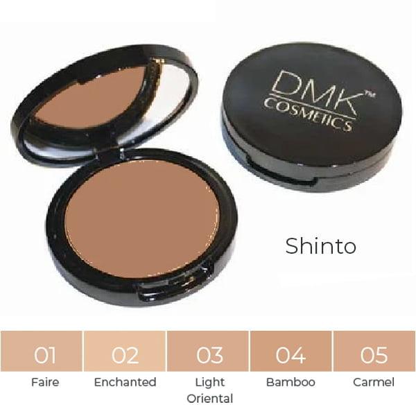 DMK Cosmetics Foundations Shinto Series består av fem farger, fra en myk gul til lysebrun undertone. Shinto gulbaserte fundamenter er perfekt tilpasset hudtoner som varierer fra lys til mørk gul-oliven.