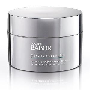 Doctor Babor Repair Cellular Ultimate Forming Body Cream fremmer hudregenerering og er utmerket egnet for hudpleie etter operasjoner og resulterer i en jevnere hudfarge, samt forbedrer utseendet på strekkmerker.