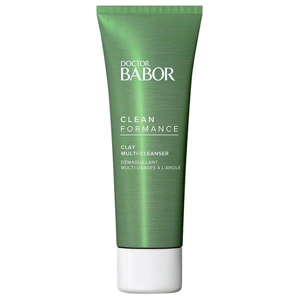 Doctor Babor Cleanformance Clay Multi-Cleanser er en mild rensende leire og maske med 95% naturlige ingredienser, prebiotika, probiotika og kaolin som renser grundig og samtidig veldig forsiktig, uten å forstyrre mikrobiomet eller tørke ut huden. Brukt som maske blir huden renset dypt inn i porene og frigjort også for overflødig talg som gir en klar, strålende og raffinert hud.
