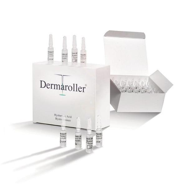 Dermaroller Hyaluronic Acid ampuller er en 2-måneders kur og kommer i en eske med 30 x 1,5 ml ampuller.