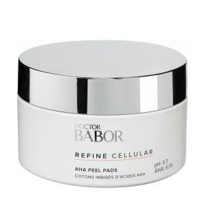 Doctor Babor Refine Cellular AHA Peel Pads gjennoppretter en strålende hud og jobber mot ujevn hudtone, forstørrede porer og fine linjer og rynker.