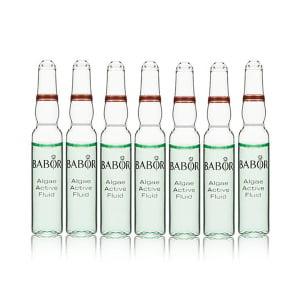 Babor Ampoule Concentrates Algae Active Fluid er engangsampuller med et fuktighetsgivende og revitaliserende konsentrat. Disse ampullene passer en fuktighetsfattig, kombinert eller trøtt og gusten hud.