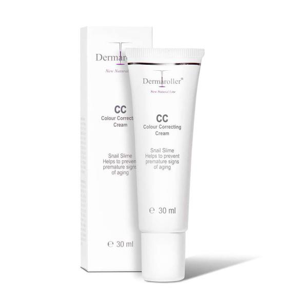 Dermaroller New Natural Line CC Color Correcting Cream skjuler urenheter og hudrødhet og kan oppnå forskjellige fargetoner avhengig av hvor lenge den masseres inn. I tillegg kan den brukes mye som et sminkeunderlag eller bare selektivt på visse berørte hudpunkter.