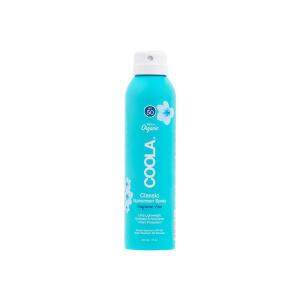 COOLA Classic Spray SPF 50 Unscented Solbeskyttelse til både ansikt og kropp. Superenkel å bruke og man kommer til overalt, og den fungerer til og med når man sprayer opp ned. Solsprayen er naturlig på duft, ultraren og oppleves ikke klissete på huden. Den er vann- og svetteresistent, fukter og pleier huden og gir optimal beskyttelse mot solen. Ideell å ha med på tur for å spraye ekstra på utsatte steder og til den som vil ha en enkel og kjapp påføring. Inneholder +70% økologiske sertifiserte ingredienser som agurk, alger, jordbærekstrakt og bringebærfrøolje. Duftfri. Bredspektret SPF 50-beskyttelse Vannresistent opptil 80 minutter Kontinuerlig spraypåføring Rik på antioksidanter Allergivennlig Parfymefri Vegansk Reef friendly * * Reef-friendly solkrem uten oxybenzone og octinoxat