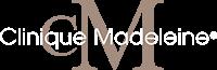 Clinique Madeleine logo brunt og hvitt